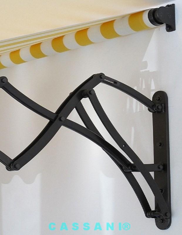 Design Markise mit Scherenarmen im Jugendstil vom Markisenhersteller Cassani