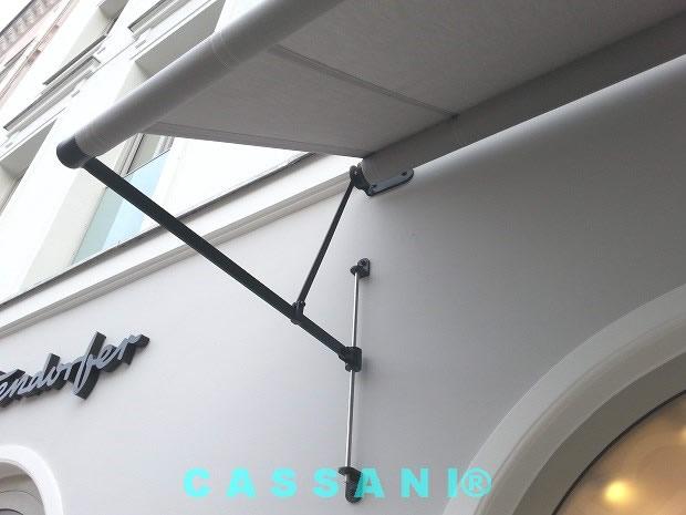 CASSANI-Historina - Historische Fassadenmarkise mit Rundstäben für denkmalgeschützte Gebäude