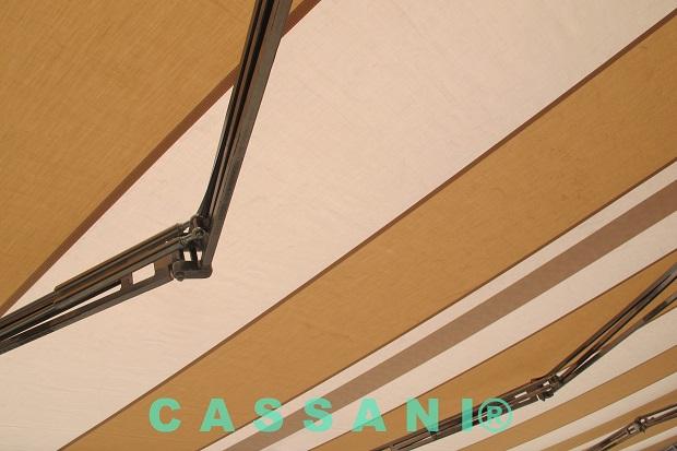 Markisen Sonderkonstruktion CASSANI®-Parisienne aus Edelstahl als Terrassenüberdachung