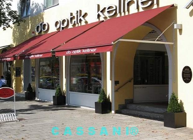 CASSANI-Historika - Historische Geschäftsmarkise mit Klapparmen für Schaufenster