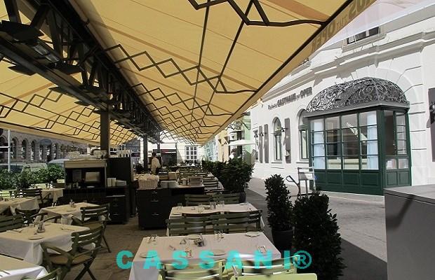 Markisen wetterfest und freistehend zur Überdachung von Terrassen und Biergärten von Markisenbau Cassani