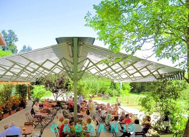 Wetterfeste Markisen freistehend mit Scherenarmen für Biergärten von Markisen Cassani