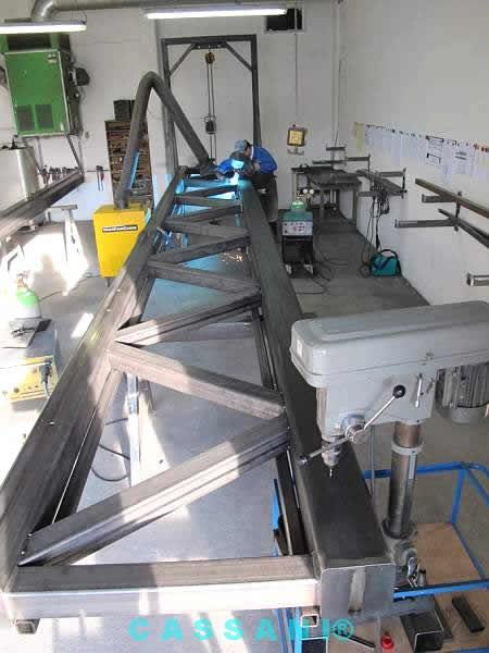 Fertigung von Großteilen für Markisenarme vom Hersteller Cassani